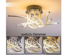 Rossport Lámpara de techo LED Cromo, 8 luces - 280/410 Lumen - Diseño - Zona interior - 3000 Kelvin - 2 - 4 días laborables .