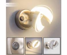 Prescott Aplique LED Níquel-mate, Cromo, 2 luces - 500 Lumen - Diseño - Zona interior - 3000 Kelvin - 2 - 4 días laborables .