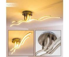 NOORVIK Lámpara de Techo LED Níquel-mate, 1 luz - 2490 Lumen - Moderno - Zona interior - 3200 Kelvin - 2 - 4 días laborables .