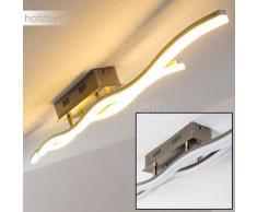 TIONGA Lámpara de Techo LED Níquel-mate, 2 luces - 1400 Lumen - Moderno - Zona interior - 3000 Kelvin - 2 - 4 días laborables .