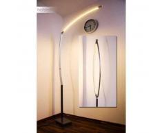 Santa Marta Lámpara de pie LED Níquel-mate, Cromo, 1 luz - 2000 Lumen - Diseño - Zona interior - 3000 Kelvin - 2 - 4 días laborables .