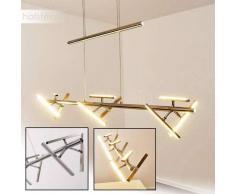 Windsor Lámpara colgante LED Níquel-mate, Cromo, 9 luces - 1800 Lumen - Diseño - Zona interior - 3000 Kelvin - 2 - 4 días laborables .