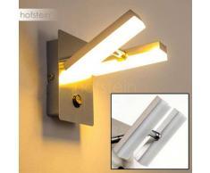 Sakami Aplique LED Níquel-mate, 2 luces - 350 Lumen - Diseño - Zona interior - 3000 Kelvin - 2 - 4 días laborables .