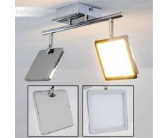 Brilliant URANUS Lámpara de techo LED Cromo, 2 luces - 1000 Lumen - Diseño - Zona interior - 3000 Kelvin - 2 - 4 días laborables .