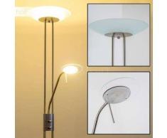 OLMINI Lámpara de pie LED Níquel-mate, 2 luces - 450/1620 Lumen - Moderno - Zona interior - 3000 Kelvin - 2 - 4 días laborables .