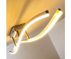 Atina Lámpara de techo LED Níquel-mate, 1 luz - 1250 Lumen - Diseño - Zona interior - 3000 Kelvin - 2 - 4 días laborables .