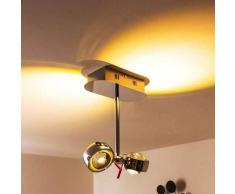 Florenz Lámpara de techo LED Cromo, 2 luces - 400 Lumen - vivienda Juvenil/Loft - Zona interior - 3000 Kelvin - 2 - 4 días laborables .