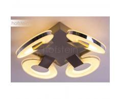 Guadelupe Lámpara de techo LED Níquel-mate, 4 luces - 570 Lumen - Diseño - Zona interior - 3000 Kelvin - 2 - 4 días laborables .