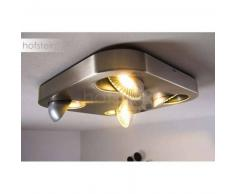 Granada Lámpara de techo LED Níquel-mate, 4 luces - 2040 Lumen - Moderno - Zona interior - 3000 Kelvin - 8 - 12 días laborables .