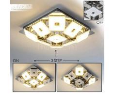 Trio Pontius Lámpara de techo LED Cromo, 9 luces - 330 Lumen - Moderno - Zona interior - 3000 Kelvin - 2 - 4 días laborables .