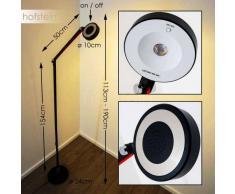 Leticia Lámpara de pie LED Negro, 1 luz - 500 Lumen - Clásico - Zona interior - 3000 Kelvin - 2 - 4 días laborables .