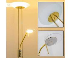 OLMINI Lámpara de pie LED Latón, 2 luces - 450/1620 Lumen - Diseño - Zona interior - 3000 Kelvin - 2 - 4 días laborables .