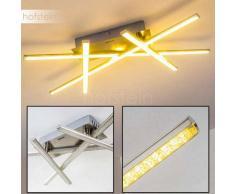 Saanich Lámpara de techo LED Níquel-mate, 1 luz - 1660 Lumen - Diseño - Zona interior - 3000 Kelvin - 2 - 4 días laborables .
