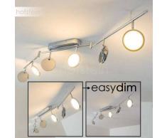 Alberton Lámpara de techo LED Cromo, Marrón claro, 6 luces - 500 Lumen - Moderno - Zona interior - 3000 Kelvin - 2 - 4 días laborables .