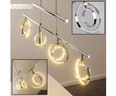 Ogoki Lámpara de techo LED Cromo, 4 luces - 390 Lumen - Diseño/Fun - Zona interior - 3000 Kelvin - 2 - 4 días laborables .