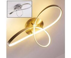 Arlena Lámpara de techo LED Níquel-mate, 1 luz - 2000 Lumen - Diseño - Zona interior - 3000 Kelvin - 2 - 4 días laborables .