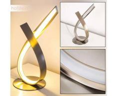 Lámpara de Mesa Medle LED Níquel-mate, 1 luz - 910 Lumen - Diseño - Zona interior - 3000 Kelvin - 2 - 4 días laborables .