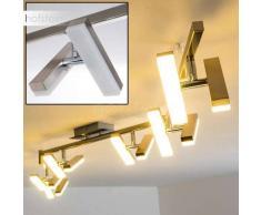 Sakami Lámpara de techo LED Níquel-mate, 12 luces - 2100 Lumen - Diseño - Zona interior - 3000 Kelvin - 2 - 4 días laborables .