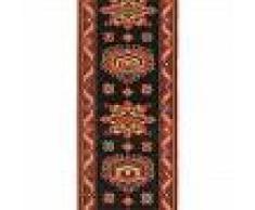 Brink & Campman Alfombra de pasillo de lana Emir Negro 70x250 cm