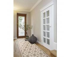 benuta Alfombra pelo corto de pasillo Anis Taupe 80x240 cm - Alfombra diseño moderno para salon