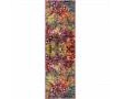 benuta Alfombra Vintage de pasillo Casa Multicolor 70x240 cm - Alfombra moderna look usado
