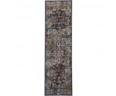 Benuta Alfombra de pasillo Cedar Azul 70x240 cm