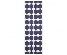 Brita Sweden Plástico Alfombra de pasillo tejido plano Anna Azul 70x100 cm