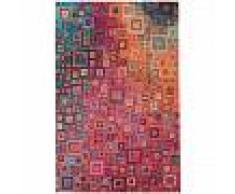benuta Alfombra de tejido plano Stay Multicolor 290x400 cm - Alfombra lisa para cocina, corredor y pasillo - fácil de limpiar