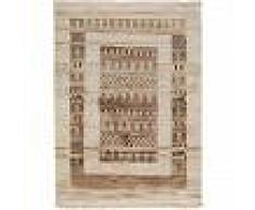 benuta Alfombra Gabbeh Beige 160x230 cm - Alfombra oriental / clasica