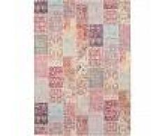 Alfombra de tejido plano Jelle Morado 200x290 cm - Alfombra lisa para cocina, corredor y pasillo - fácil de limpiar