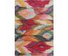 benuta Alfombra de tejido plano Frencie Multicolor 240x340 cm - Alfombra lisa para cocina, corredor y pasillo - fácil de limpiar