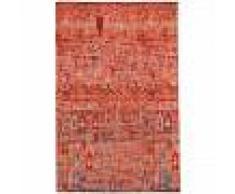 benuta Alfombra de tejido plano Stay Rojo 75x165 cm - Alfombra lisa para cocina, corredor y pasillo - fácil de limpiar