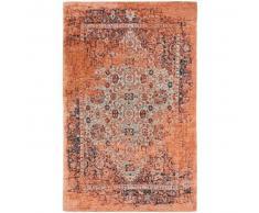 benuta Alfombra de tejido plano Tosca Naranja 155x235 cm - Alfombra lisa para cocina, corredor y pasillo - fácil de limpiar