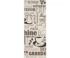 benuta Alfombra de cocina Cafe Beige 80x200 cm - Alfombra fácil de limpiar