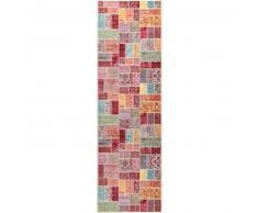 benuta Alfombra pelo corto de pasillo Visconti Multicolor 70x240 cm - Alfombra diseño moderno para salon