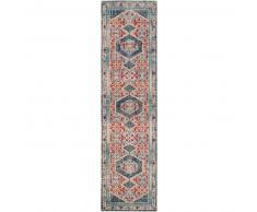 Alfombra pelo corto de pasillo Stella Beige/Azul 80x300 cm - Alfombra diseño moderno para salon
