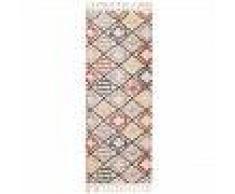 Alfombra pelo corto de pasillo Bahar Multicolor 80x200 cm - Alfombra diseño moderno para salon
