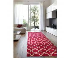 Benuta Alfombra de pasillo Arabesque Rosa 80x290 cm