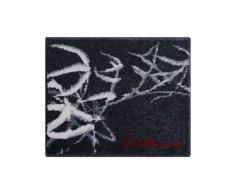 Colani Alfombrilla de baño Negro 70x120 cm