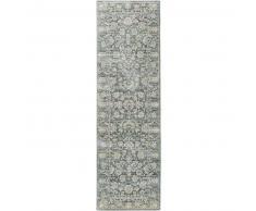 benuta Alfombra pelo corto de pasillo Supreme Verde 70x240 cm - Alfombra diseño moderno para salon