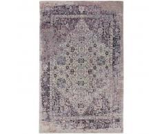 benuta Alfombra de tejido plano Tosca Morado 115x180 cm - Alfombra lisa para cocina, corredor y pasillo - fácil de limpiar