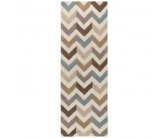 Alfombra de lana de pasillo Windsor Beige 80x240 cm - Alfombra natural para dormitorio y salon