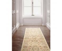benuta Alfombra pelo corto de pasillo oriental Heritage Crema 66x240 cm - Alfombra diseño moderno para salon