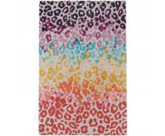 benuta Alfombra de tejido plano Stay Multicolor 155x235 cm - Alfombra lisa para cocina, corredor y pasillo - fácil de limpiar