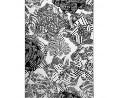 Esprit Alfombra Rosia Blanco y Negro 160x225 cm