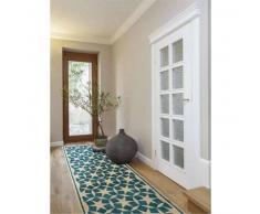 Benuta Alfombra de pasillo Anis Azul 80x290 cm