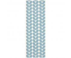 Brita Sweden Plástico Alfombra de pasillo tejido plano Karin Azul 70x200 cm