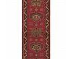 Brink & Campman Alfombra de pasillo de lana Emir Rojo 70x400 cm