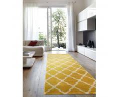 benuta Alfombra pelo corto de pasillo Lotus Amarillo 80x240 cm - Alfombra diseño moderno para salon