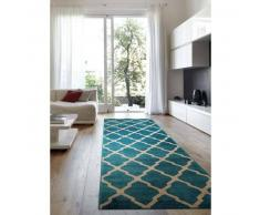 Benuta Alfombra de pasillo Lotus Azul 80x240 cm
